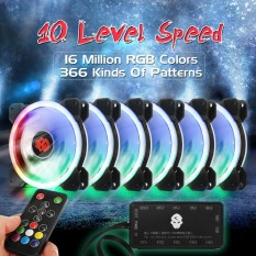 Jual 6 Pack 1800Rpm Rgb Led Quiet Computer Case Pc Cooling Fan 120Mm Remote Control Intl Not Specified Original
