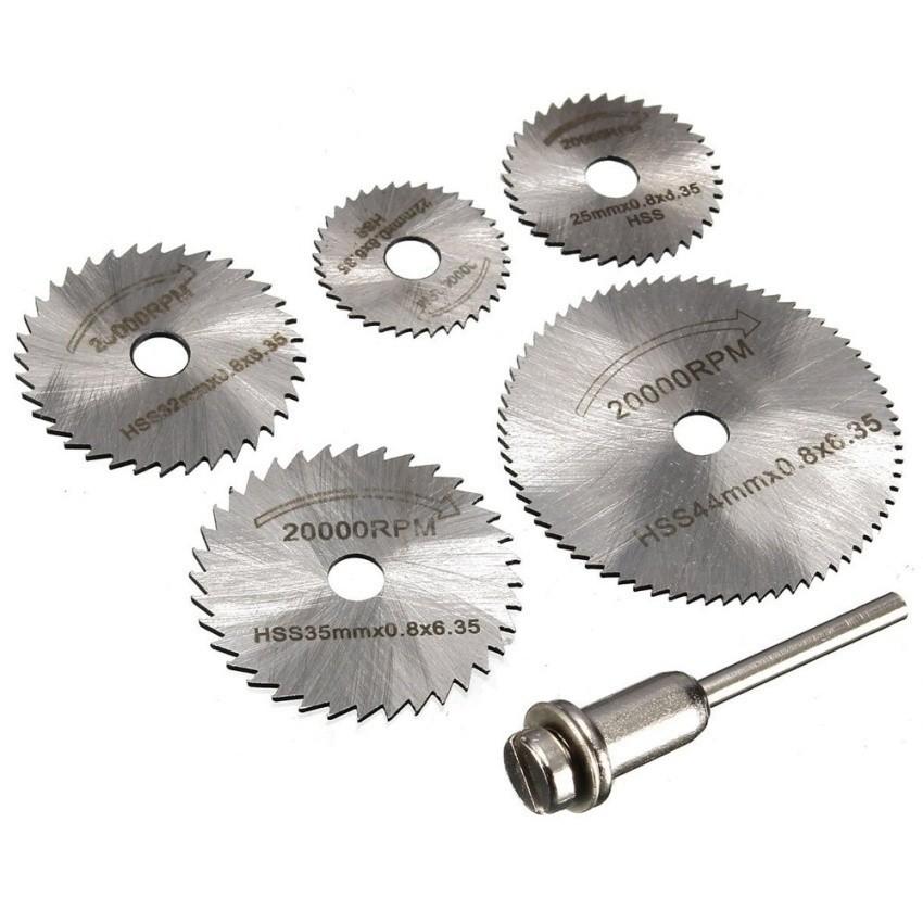 6 Buah Mata Bor Kayu Set Alat Pemotong Gergaji. Source · 6 PC Dremel Cutoff Circular Saw HSS Rotary Blade Tool Cutting DiscsMandrel- Intl