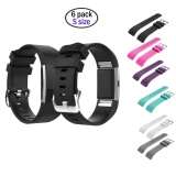 Ulasan Mengenai 6 Pcs Small Size Silicone Sports Watch Band Strap Replacement Bracelet For Fitbit Charge 2 Intl