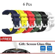6 Pcs Olahraga Silicone Gelang Tali Band untuk Samsung Gear S3 CLASSIC/S3 Frontier-Intl