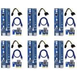 Jual 6 Pin Didukung Pci E Pci Express Riser Kartu Ver 006C 1X Untuk 16X Pcie Usb 3 Adaptor Dengan Usb Kabel Ekstensi Gpu Riser Extender Kabel Pertambangan Mata Uang 6 Pack Intl Murah Tiongkok