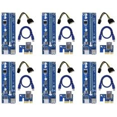 Diskon 6 Pin Didukung Pci E Pci Express Riser Kartu Ver 006C 1X Untuk 16X Pcie Usb 3 Adaptor Dengan Usb Kabel Ekstensi Gpu Riser Extender Kabel Pertambangan Mata Uang 6 Pack Intl Akhir Tahun