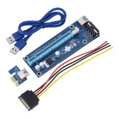 Jual 60Cm Pci E Express 1X To 16X Usb 3 Powered Extender Riser Adapter Graphics Card Blue Intl Oem Di Tiongkok