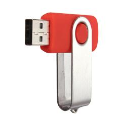 64 GB USB 2.0 Yang Dapat Disesuaikan Dilipat Flashdisk Stik Memori Drive Penyimpanan Data Jempol Merah