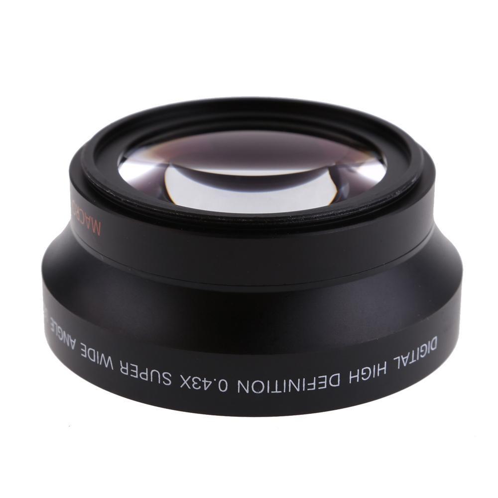 67 Mm Digital Definisi Tinggi 0.43 �super Lensa Wide Angle dengan Makro Jepang Optik untuk Canon Pemberontak T5i T4i T3i 18 -135 Mm 16-85 Mm dan Nikon 18-105 70-300VR-Intl