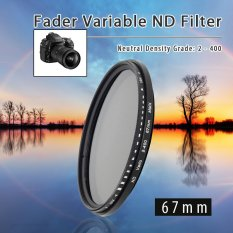 67Mm Fader Variabel Filter Nd Kepadatan Netral Nd2 Nd4 Nd8 Nd16 For Nd400 Asli