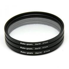 67mm Star-Effect Cross Filter Starburst Twinkle Efek Filter Tiffen 4 6 8 Set untuk Canon Nikon -Intl