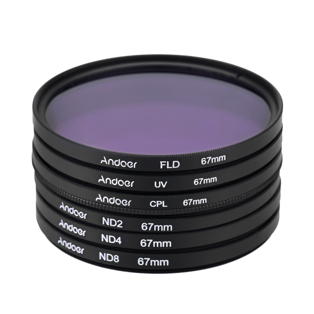 Spesifikasi 67Mm Uv Cpl Fld Nd Nd2 Nd4 Nd8 Set Perlengkapan Fotografi Filter Ultraungu Melingkar Polarisasi Neon Kepadatan Netral Filter Nikon Canon Sony Pentax Dslr Not Specified