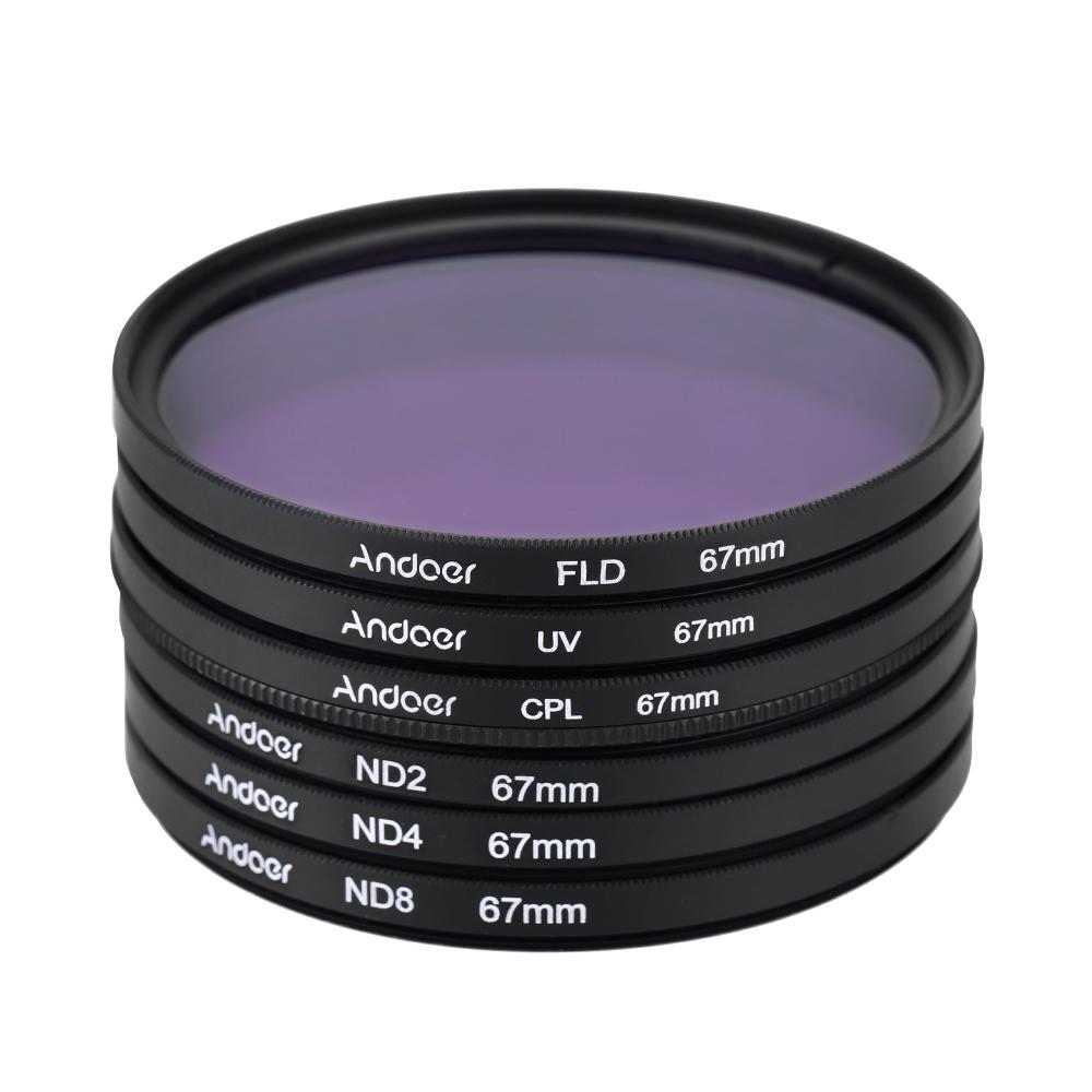 Spesifikasi 67Mm Uv Cpl Fld Nd Nd2 Nd4 Nd8 Set Perlengkapan Fotografi Filter Ultraungu Melingkar Polarisasi Neon Kepadatan Netral Filter Nikon Canon Sony Pentax Dslr Terbaik