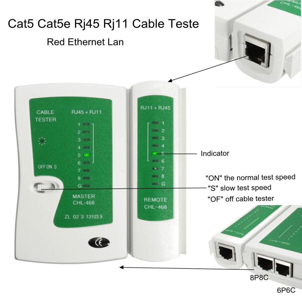 6 Pcs Jaringan Kabel Penguji untuk Cat5 RJ45 RJ11 RJ12 Buah Ethernet LAN Kabel Testing Alat