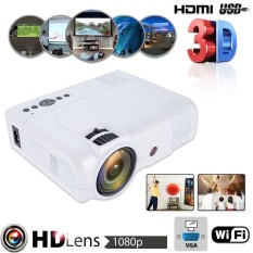 7000 Lumens Android WiFi LED Home Theater Projector TV USB HDMI 1080P Full HD UK Plug - intl