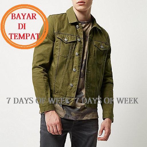 Obral 7Dayofweek Jaket Jeans Denim Pria Green Hijau Murah