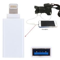 8 Pin Male Ke USB 3.1 Perempuan OTG Adaptor untuk Apple IPhone 5 S/6/6 S/ 7/7 Plus IPad (Putih) -Intl