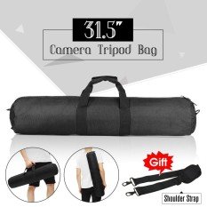 80 Cm Hitam Padded Strap Camera Tripod Carry Bag Case untuk Manfrotto Gitzo Velbon-Intl
