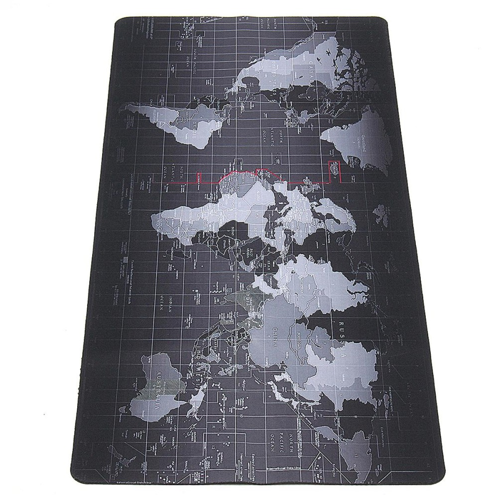 Toko 800X300Mm Large Size World Map Speed Game Mouse Pad Laptop Gaming Mat World Map Intl Tiongkok
