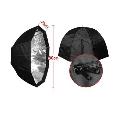Ulasan Tentang 80 Cm 31 5In Payung Kotak Putih Brolly Reflector Dengan Honeycomb Grid Carbon Fiber Bracket Untuk Speedlite Flash Light Outdoorfree Intl