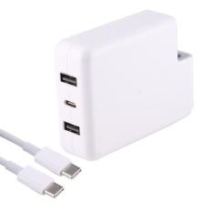 87 W / 61 W USB - C Power Adapter cepat pengisian dengan 2m USB - C kabel dan otomatis identifikasi untuk Mac Book, I Phone, Galaxy, Huawei, Xiaomi, LG, HTC dan lain Smart Phones, perangkat Rechargeable, tanpa Plug (putih)