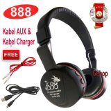 Jual 888 Bluetooth Ksd 668B Stereo Headphone Support Micro Sd Rops Edr Buil In Mikrofon Mp3 Fm Headset Murah Banten