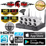 Jual 8 Channel Wifi Nirkabel Nirkabel Cctv Hd Kit Set Peluru Kamera Adaptor And Braket Gratis 1 3Mp 960 P For Kamera Nvr Mendukung 720 P 960 P 1080 P Tahan Terhadap Udara Branded Murah