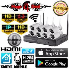 Spesifikasi 8 Channel Wifi Nirkabel Nirkabel Cctv Hd Kit Set Peluru Kamera Adaptor And Braket Gratis 1 3Mp 960 P For Kamera Nvr Mendukung 720 P 960 P 1080 P Tahan Terhadap Udara Online