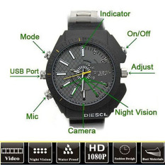 Review Toko 8 Gb Tahan Air Watch Spy Camera Camcorder Dvr 1080 Pwithirnightvision Cam Hitam Intl Intl
