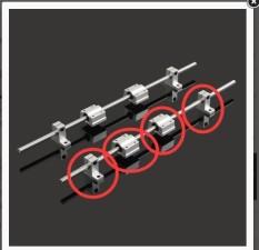 8 Mm 400 Mm Hardened Volcanic Ash Tangkai Selusur Kit W/Bearing Block Konten Penilaian 3D Printer CNC-Internasional