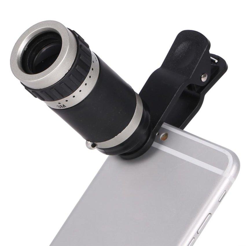 Katalog 8X Zoom Monocular Telescope Lensa Kamera Universal Klip Optik Telephoto Untuk Ponsel Terbaru