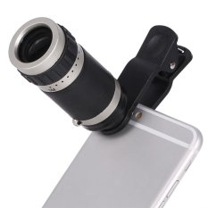 Promo 8X Zoom Monocular Telescope Lensa Kamera Universal Klip Optik Telephoto Untuk Ponsel
