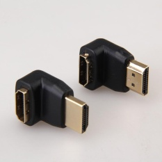 90 Derajat + 270 Derajat Hdmi Male To Female Right Angle Adaptor Konektor- Internasional By Itechcool.