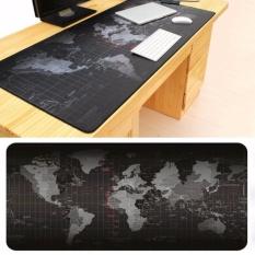 90x40 Cm Ukuran Besar Dunia Peta Rubber Gaming Mouse Pad Mouse keyboard Mat untuk Notebook PC Komputer Game Mousepad-Intl