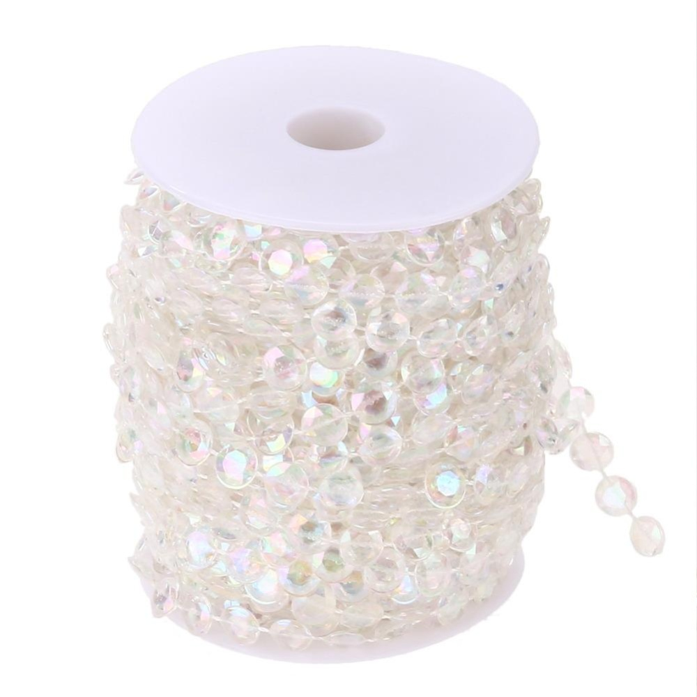 99Ft Garland Diamond Acrylic Crystal Bead Tirai Pernikahan Diy Pihak Dekorasi Intl Original