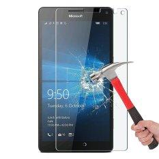 Beli 9 H Hd Clear Tempered Glass Screen Protector Film Untuk Nokia Lumia 950Xl Intl Murah Di Tiongkok