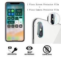 9 H Tempered Glass Layar Depan dan Belakang Phone Camera Lens Protector Film untuk OPPO F1 Plus/R9 -Intl