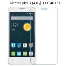 9 H Tempered Glass Screen Protector Film untuk Alcatel Pixi 3 (4.0 寸) OT4013K-Intl