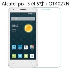 9 H Tempered Glass Screen Protector Film untuk Alcatel Pixi 3 (4.5 寸) OT4027N-Intl