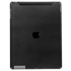 9Skin Premium Skin Protector Apple iPad 2 3 4 , 3G cellular / non 3G - Leather Texture - Hitam