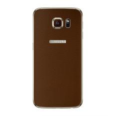 Spesifikasi 9Skin Premium Skin Protector Samsung Galaxy S6 Edge Teksture Leather Coklat Dan Harga