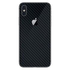 Toko Jual 9Skin Premium Skin Protector Untuk Case Iphone X Tekstur Carbon Hitam