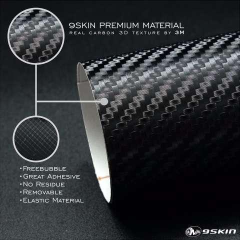 9Skin - Premium Skin Protector untuk Case iPod Touch 6 - Carbon Texture - Hitam 2