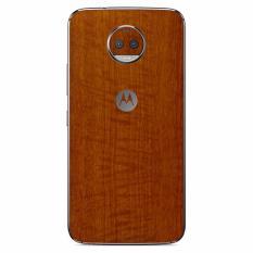 9Skin - Premium Skin Protector untuk Case Motorola Moto G5S Plus - Tekstur Metallic Wood - Coklat