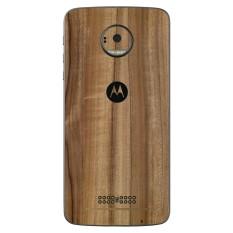 9Skin - Premium Skin Protector untuk Case Motorola Moto Z - Tekstur Classic Wood - Coklat