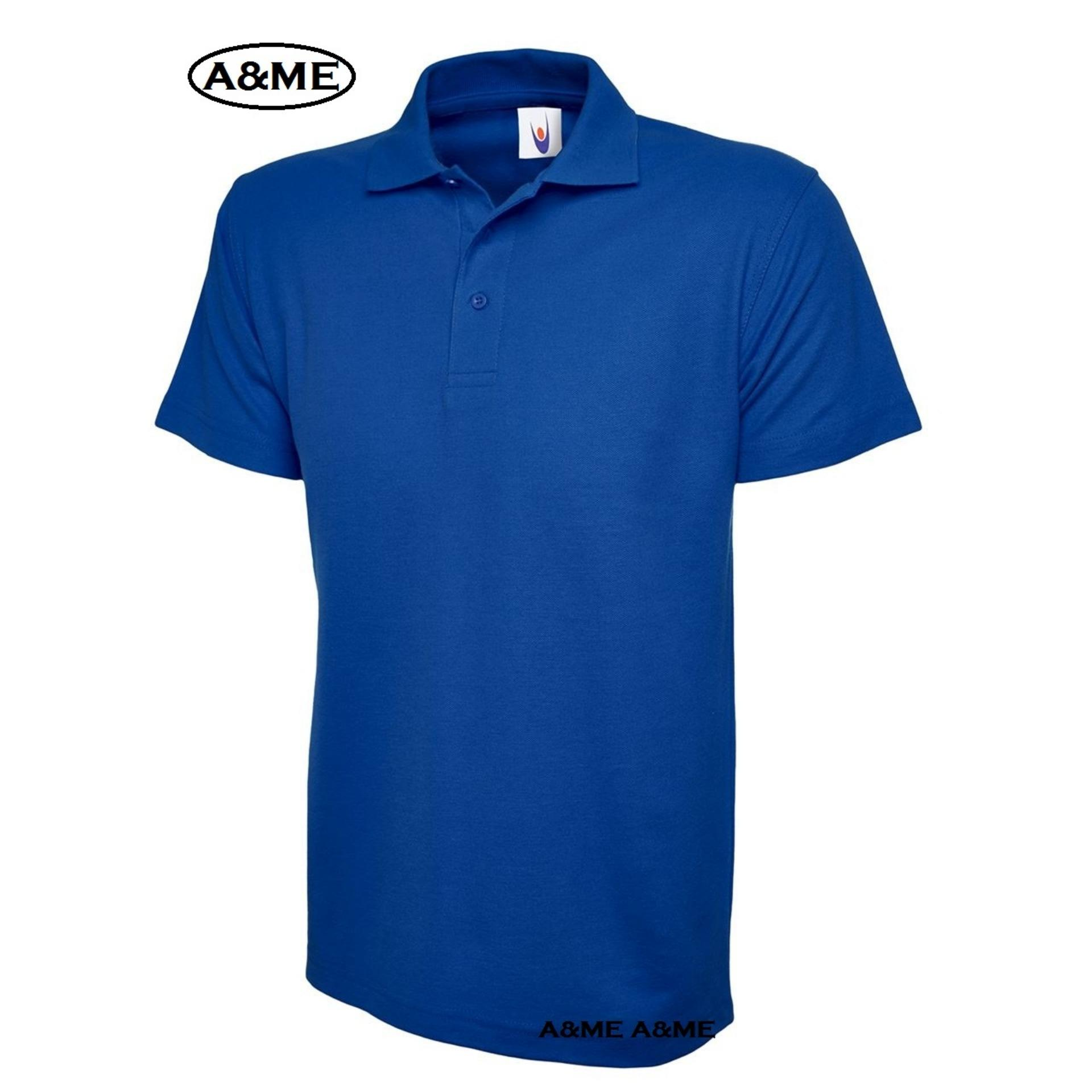 A&ME-Kaos Polo Shirt  M L XL Lengan Pendek Baju Pakaian Olah Raga Kaos Kerah Atasan Pria Wanita Lacos Pique Fashion Keren Nyaman Bagus Simple - Biru 02
