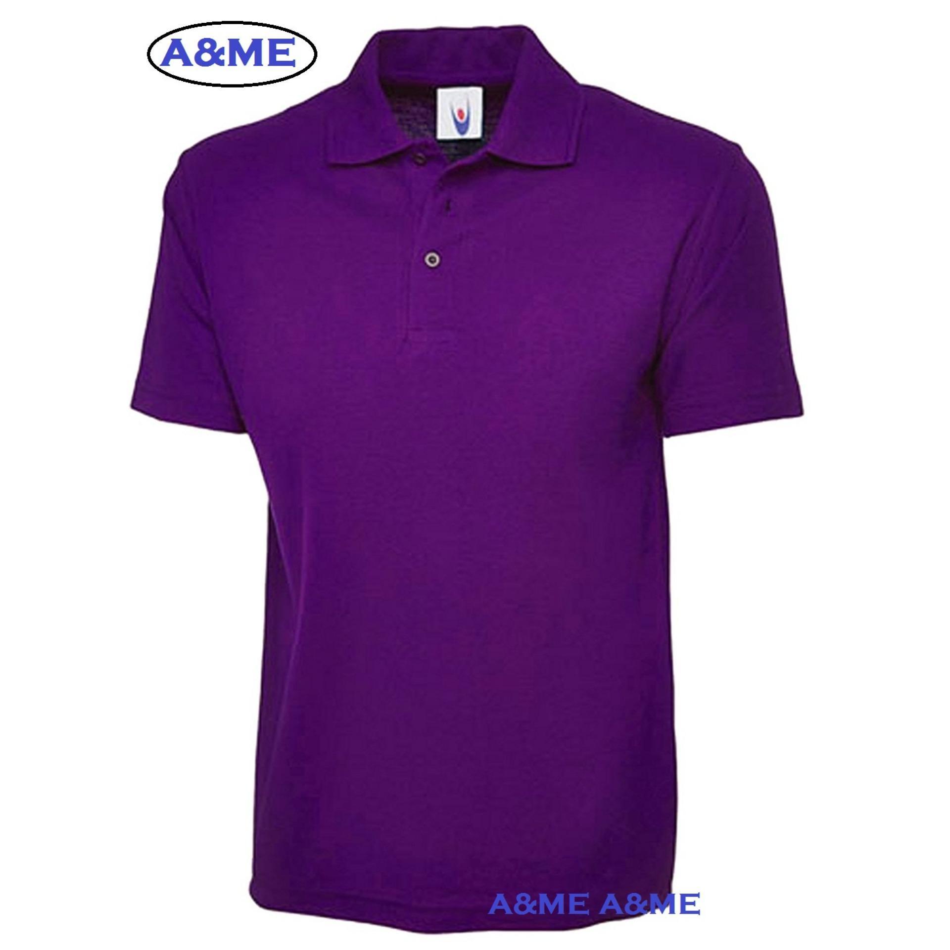 A Me Kaos Polo Shirt M L Xl Lengan Pendek Baju Pakaian Olah Raga Kaos Kerah Atasan Pria Wanita Lacos Pique Fashion Keren Nyaman Bagus Simple Ungu A Me Diskon