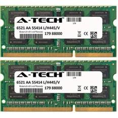 A-tech 4 GB Perlengkapan 2X2 GB HP-Buku Catatan Compaq Presario CQ57-252SA CQ57-253SA CQ57-256SA CQ57-301SA CQ57-302SA CQ57-303SA CQ57-310US CQ57-314NR CQ57-315NR SO-DIMM DDR3 NON-ECC PC3-8500 1066 MHz Ram Memori-Internasional