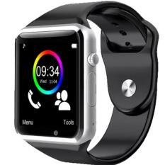 A1 Smart Watch untuk Android Samsung dan IPhone Smart Phone Cell Phone 1.54 Inch SIM Card_black-silver-Intl