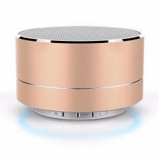 Beli A10 Mini Logam Bluetooth Speaker Handsfree Subwoofer Wireless Musik Kotak Suara Penopang Micro Sd Tf Kartu Audio Player Emas Oem Murah