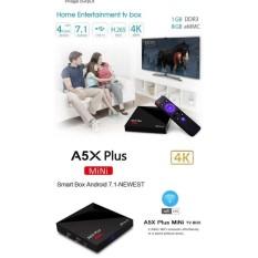 A5X Plus Android 7.1 Set Top Smart TV Box Quad Core RK3328 USB3.04K Beban Penuh & Nbsp;-Intl