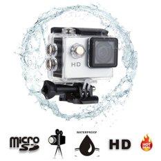 A7 Kamera HD 720 P Murah Hadiah Olahraga Action Camera 2�  X9D LCD 90 WideAngle 30 M Tahan Air Mini Digital Camcorder (Color: Sliver)-Intl
