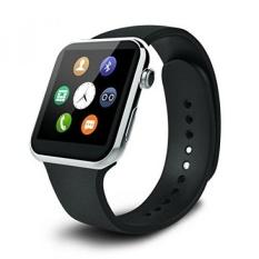 A9 Monitor Detak Jantung Smart Watch Kebugaran Tracker dengan HD DP Bluetooth Kompatibel dengan Samsung Galaxy S4/S5/ S6 EDGE/Catatan 4/Catatan 5 HTC Sony LG Huawei Apple smartphone Android 4.2 dan Di Atas (Silver) -Intl