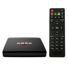 A95X R1 Smart Android 7.1.2 TV Box Amlogic S905W Quad Core H.265 VP9 Mini PC 1 GB/8 GB DLNA Miracast Airplay WiFi LAN HD Media Player Steker AS-Internasional